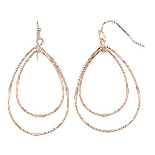 LC Lauren Conrad Double Teardrop Nickel Free Earrings