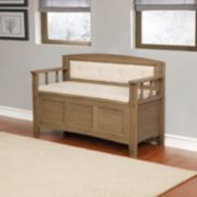 Linon Landry Padded Storage Bench