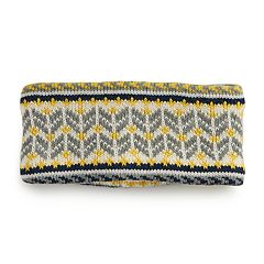 Girls 4-16 Igloos Sherpa-Lined Fairisle Headband