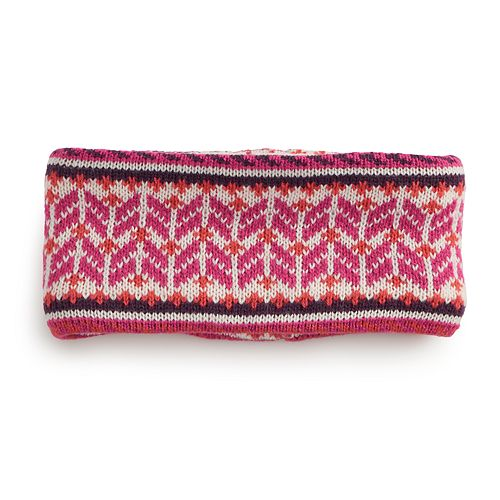 Girls 4-16 Igloos Sherpa-Lined Fairisle Headband