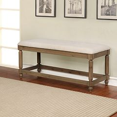 Linon Ember Padded Bench