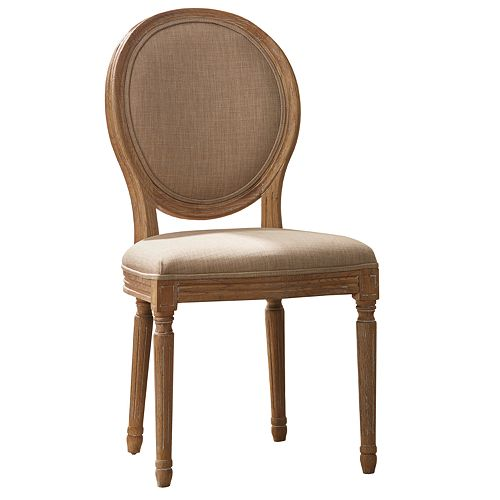 Linon Josie Oval Dining Chair 2-piece Set