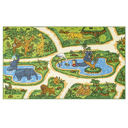 nuLOOM Galen Zoo Animals Rug
