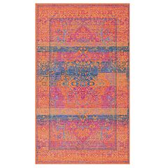 nuLOOM Kaila Colorful Framed Rug - 5' x 8'