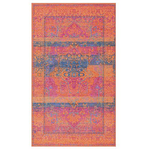 nuLOOM Kaila Colorful Framed Rug - 5' x 8'