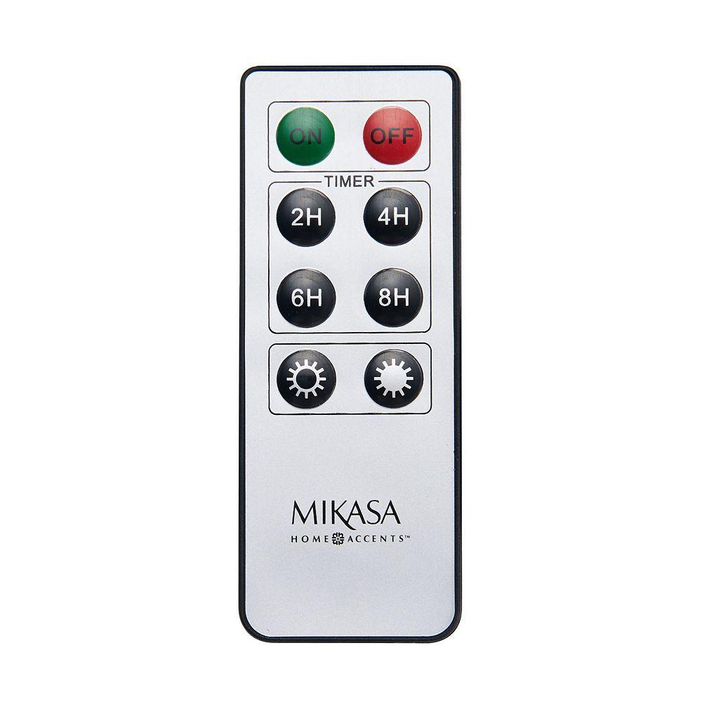 Mikasa Universal Lit Wick & Realistic Pillar Candle Remote