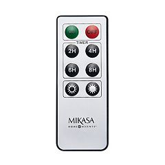 Mikasa Universal Lit Wick & Realistic Pillar Candle Remote