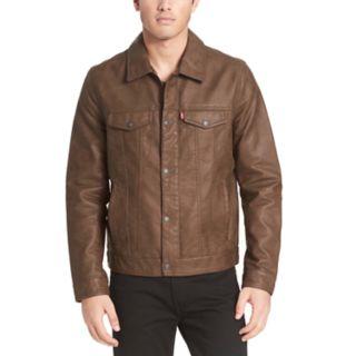 <p>Men's Levi's Faux-Leather Trucker Jacket</p>