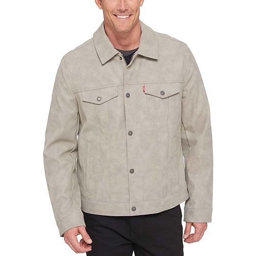 Men's Levi's Faux-Leather Trucker Jacket