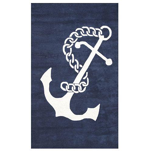 nuLOOM Set Sail Anchor Rug
