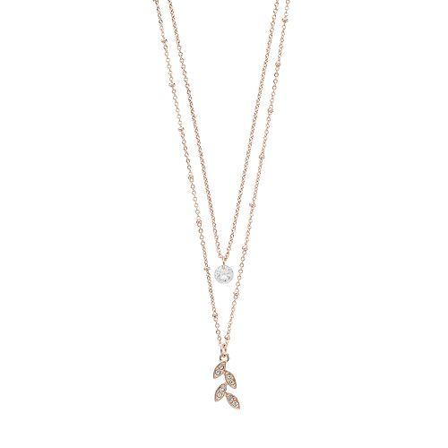LC Lauren Conrad Layered Leaf Necklace