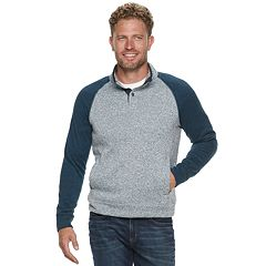 Men's SONOMA Goods for Life™ Supersoft Modern-Fit Sweater Fleece Mockneck Pullover