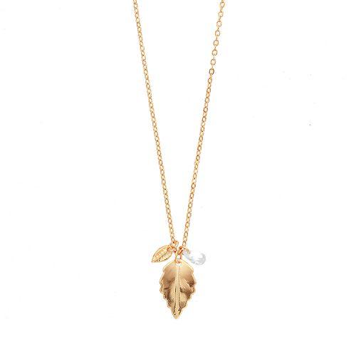 LC Lauren Conrad Leaf Pendant Necklace