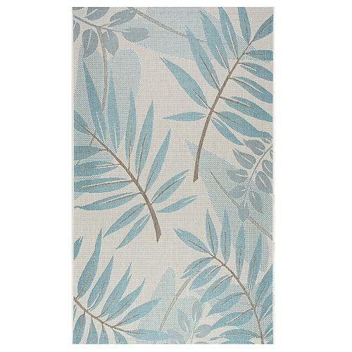 "nuLOOM Outdoor Trudy Leaves Indoor Outdoor Rug - 5'3"" x 7'6"""