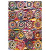 nuLOOM Kindra Colorful Circles Shag Rug