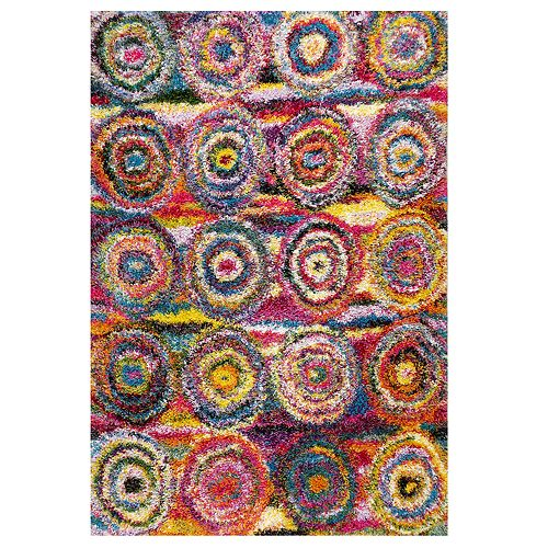 nuLOOM Kindra Colorful Circles Shag Rug