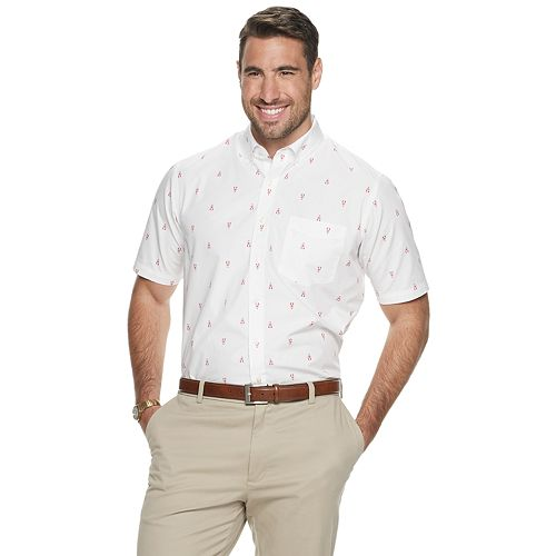 Big & Tall Croft & Barrow® Classic-Fit Easy-Care Button-Down Shirt