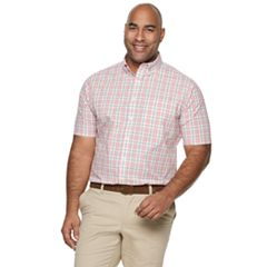 Big & Tall Croft & Barrow Classic-Fit Gingham Easy-Care Button-Down Shirt