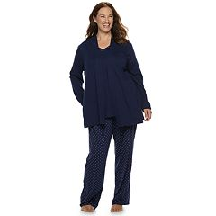 Plus Size Croft & Barrow® 3-piece Cardigan, Tank & Pants Pajama Set