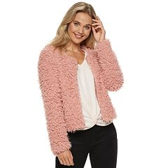 Juniors' Candie's® Teddy Faux-Fur Jacket