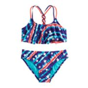 Girls 7-16 SO® Rocket Stars Bikini Top & Bottoms Swimsuit Set