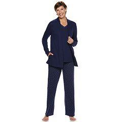 Petite Croft & Barrow® 3-piece Sleep Top, Tank & Pants Pajama Set