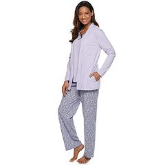 Petite Croft & Barrow® 3-piece Sleep Top, Tank & Pants Pajama Set