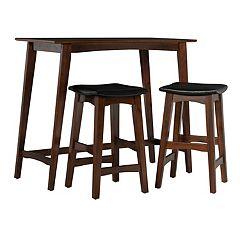 Linon Sloan Tavern Stool & Table 3-piece Set