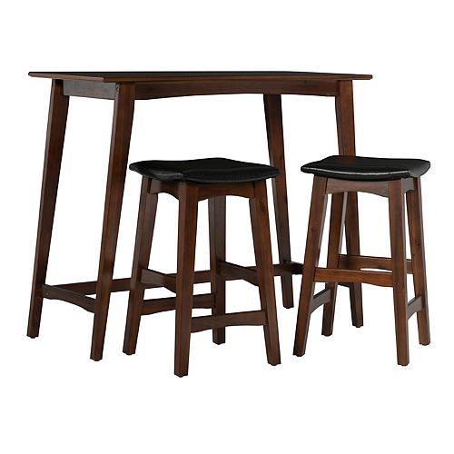 Linon Sloan Tavern Stool & Table 3-piece Set