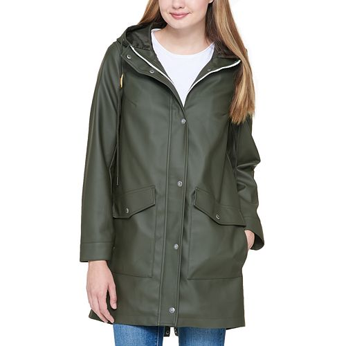 Women's Levi's® Hooded Faux-Leather Fishtail Parka