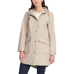 Women's Levi's® Hooded Faux-Leather Fishtail Parka