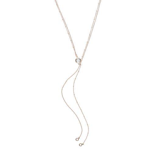 LC Lauren Conrad Rose Gold Tone Y Necklace