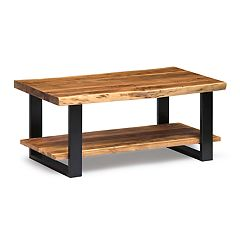 Alaterre Furniture Alpine Live Edge Wood Coffee Table