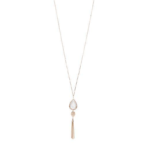 LC Lauren Conrad Teardrop Tassel Necklace