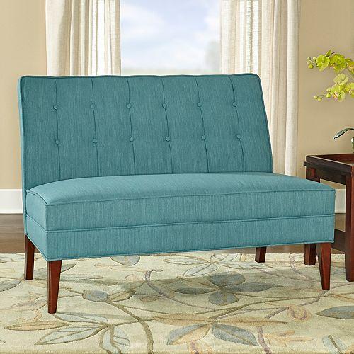 Linon Grayton Settee Loveseat Sofa