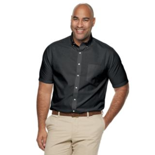 Big & Tall Croft & Barrow® Classic-Fit Solid Easy-Care Button-Down Shirt