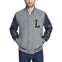 Men's Levi's Mixed-Media Wool-Blend Varsity Jacket