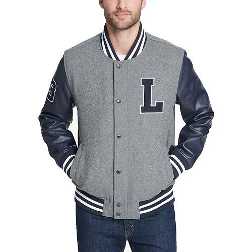 Men's Levi's Mixed-Media Wool-Blend Varsity Jacket