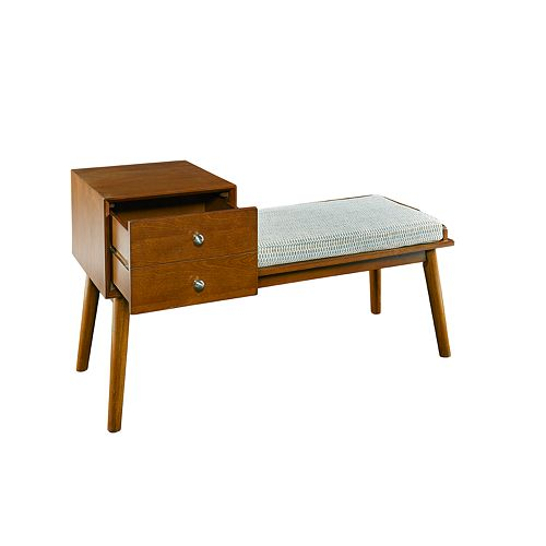 Linon Charlotte Side Storage Bench