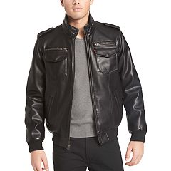 Men's Levi's® Sherpa-Lined Faux-Leather Aviator Bomber Jacket