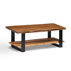 Alaterre Furniture Alpine Live Edge Wood Large Coffee Table