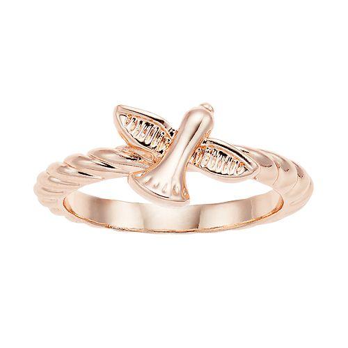 LC Lauren Conrad Rose Gold Tone Bird Ring