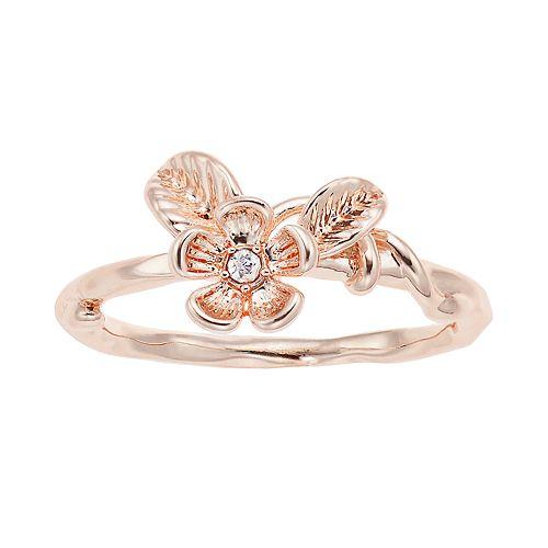 LC Lauren Conrad Leaf & Flower Cluster Ring