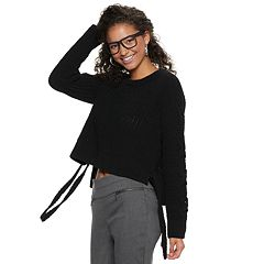 Juniors' Candie's® Chenille Long Sleeve Top
