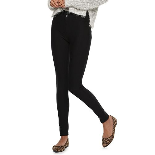 Juniors' Candie's® Mid-Rise Ponte Leggings