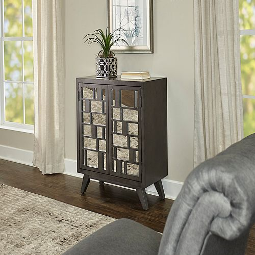 Powell Kendall Mirrored Storage Cabinet