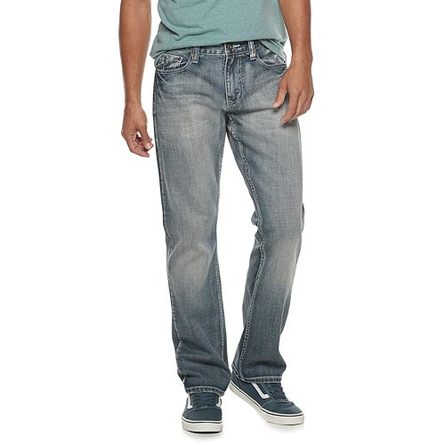 Men's Flypaper Faux Flap Straight-Leg Jeans