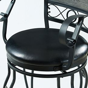 Powell Ellie Scroll Wide Seat Counter Stool