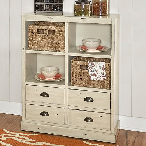 Powell Mina Storage Cabinet & Basket 3-piece Set