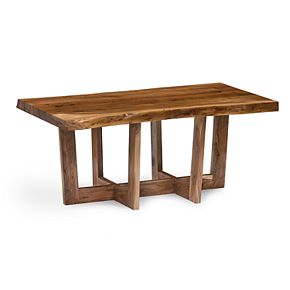 Alaterre Furniture Berkshire Live Edge Criss-Cross Coffee Table
